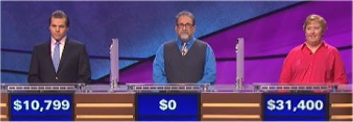 Final Jeopardy: Matt Hoffer-Hawlik, Neil Sondov and Bonnie Megel (7-7-16)