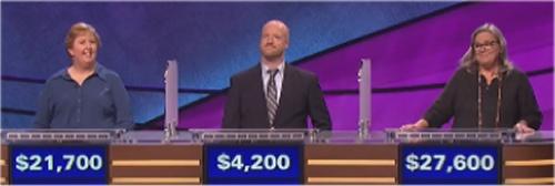 Final Jeopardy: Bonnie Megel, Mike Solano and Pam Platt (7-8-16)