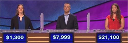 Final Jeopardy (9-12-16) Courtney Paulson, David Gottdenker and Annie Busiek