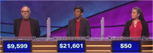 Final Jeopardy featuring Scott Bateman, Siddharth Hariharan and Amy Ramsay