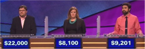 Final Jeopardy (9-22-2016) Seth Wilson, Kellyn Johnson and Ryan Mill