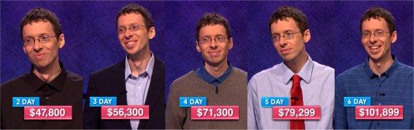 Jeopardy champs Dec 5 - 9, 2016