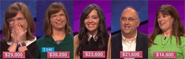 Jeopardy! champs for the week of April 3, 2017