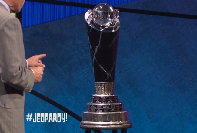 Jeopardy! College Championship trophy