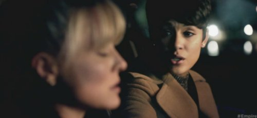 Kaitlin Doubleday as Rhonda and Grace Gealey as Anika in Empire