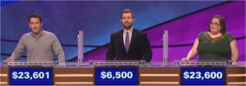 Final Jeopardy Results: 1-11-16