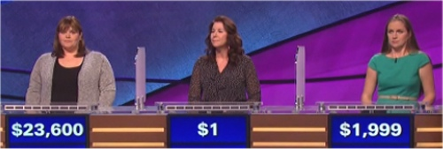 Final Jeopardy Results for January 20, 2016