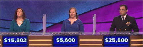Final Jeopardy Results for February 25, 2016