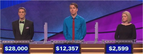 Final Jeopardy Results for February 29, 2016