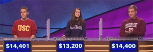 Final Jeopardy Results for February 3, 2016