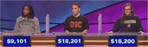 Final Jeopardy Results for February 9, 2016