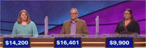 Final Jeopardy Results for Friday, March 25, 2016
