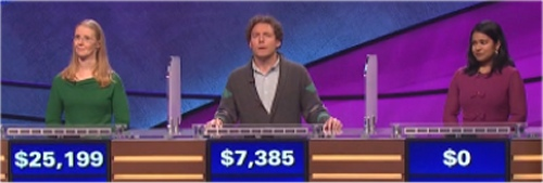 Jeopardy Results for March 3, 2016