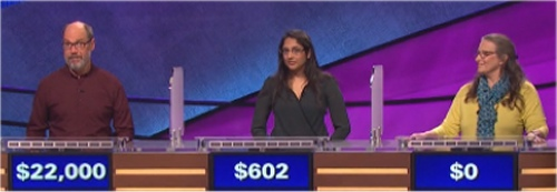 Final Jeopardy Results for Thursday, March 31, 2016