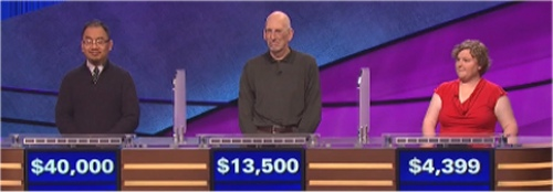 Final Jeopardy Results for April 19, 2016