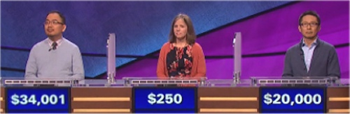 Final Jeopardy results for Friday, April 22, 2016