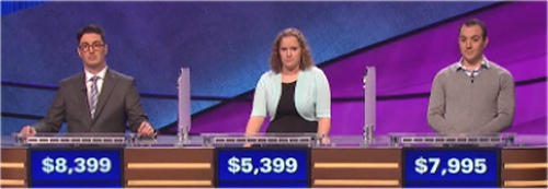 Final Jeopardy Results for Wed, April 27, 2016