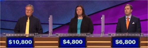 Final Jeopardy (5/10/2017) David Clemmons, Stephanie Mitchell, Cody Vest