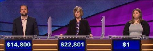 Final Jeopardy (5/11/2017) Michael Camp, Nan Cohen, Lindsey Henry