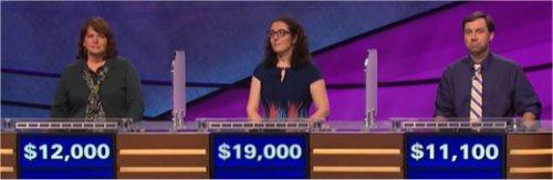 Final Jeopardy (5/12/2017) Holly Cannon, Susannah Nichols, Dennis McDonald