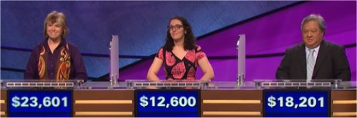 Final Jeopardy (5/16/2017) Nan Cohen, Susannah Nichols, Eduardo Sevilla