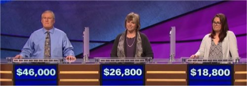 Final Jeopardy (5/19/2017) David Clemmons, Nan Cohen, Mary Parker