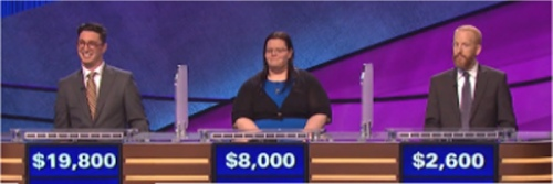 Final jeopardy Results for Monday, May 23, 2016