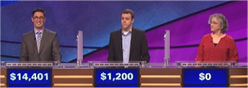 Final Jeopardy Results for Wednesday, May 25, 2016