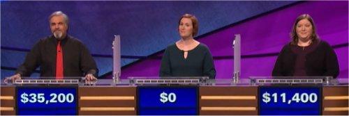 Final Jeopardy (5/29/2017) Jon Groubert, Emily Hollins, Megan Clair