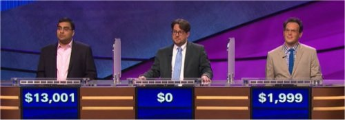 Final Jeopardy (5/5/2017) Ragavan Ramsubramani, Seth Madej, Rich Steeves