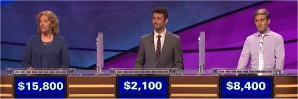 Final Jeopardy (5/8/2017) Gail Ansheles, George Deane, Graham Toben