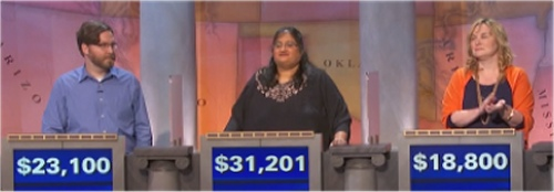 Final jeopardy Results for Monday, May 9, 2016
