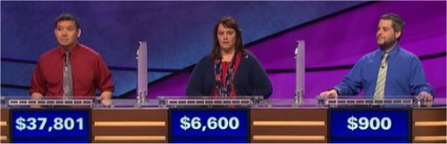 Final Jeopardy (6/1/2017) Joe Nguyen, Christie Burke, Coby Klein