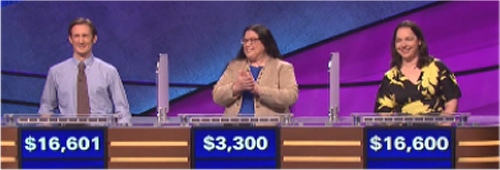 Final Jeopardy Results for Tuesday, June 15, 2016