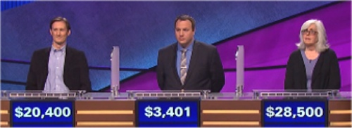 Final Jeopardy Results for Thursday, June 16, 2016
