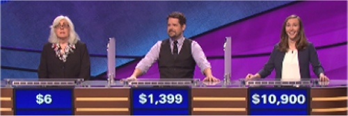 Final jeopardy Results for Monday, June 20, 2016