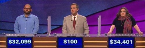 Final Jeopardy (6/21/2017) Peter Guekguezian, Matt Sokol, Lisa Evans