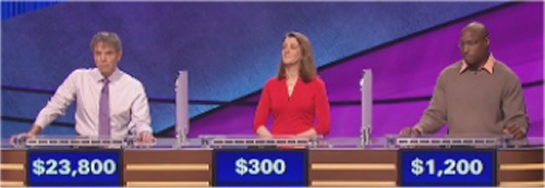 Final Jeopardy: Harris Stutman, Jennifer Lloyd and Afam Afam Onyema