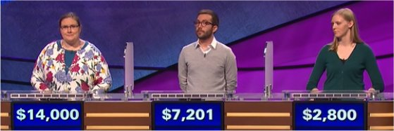 Final Jeopardy (6/6/2017) Chantelle Schofield, Mike Ponterotto, Tracy Bacon