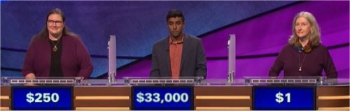 Final Jeopardy (6/7/2017) Chantelle Schofield, Bala Kumar, Phyllis Gilbert