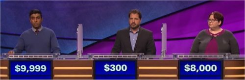 Final Jeopardy (6/8/2017) Bala Kumar, Scott Bergeron, Sarah Waldsmith