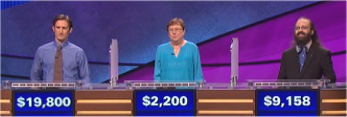Final Jeopardy Results for Thursday, June 9, 2016