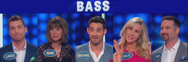 Lance Bass with family on Family Feud (6-26-2016)