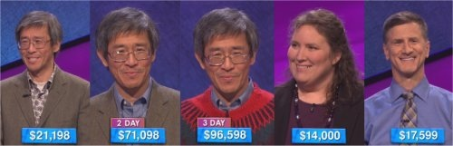 Jeopardy! champs prizes for the week of March 14, 2016