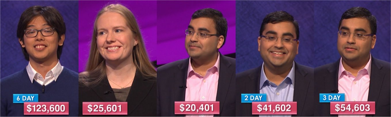 Jeopardy! champs for the week of May 1, 2017