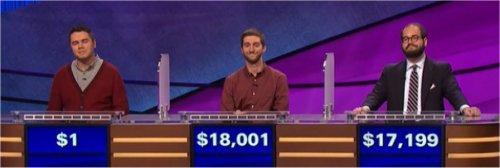 Final Jeopardy (6/28/2017) Brandon Randall, William Baldwin, Nathan Flynn
