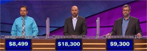 Final Jeopardy (6/30/2017) Clint Thompson, Allan Ashley, John Eisenman
