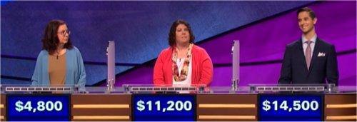 Final Jeopardy (7/10/2017) Susan Corica, Alyssa Mondelli, Rich Blashka
