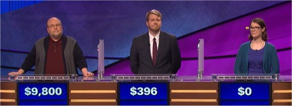 Final Jeopardy (7/13/2017) Gavin Borchert, Terry Hanlon, Jill Staunton