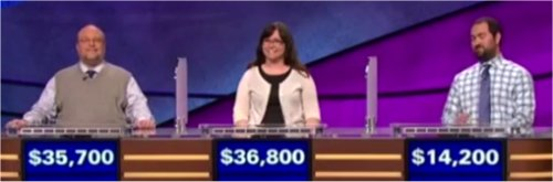 Final Jeopardy (7/17/2017) Gavin Borchert, Deborah Elliott, Graydon Mears